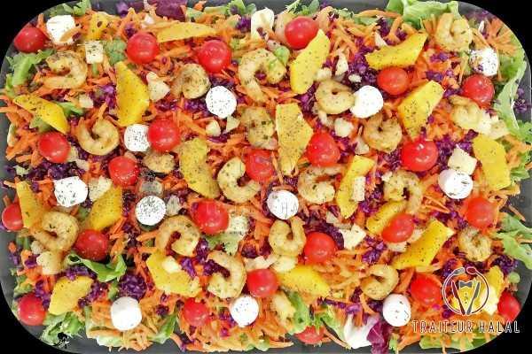 Salade Gambas Chèvre