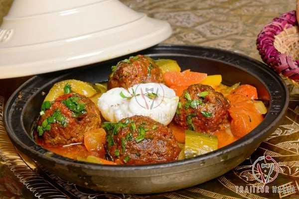 Tajine Kefta au Bœuf et ratatouille de Tunis