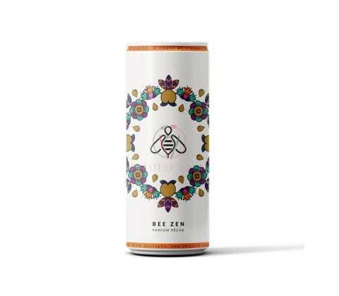 Bee Zen Bio Pêche Miel 25 cl, boisson bio pétillante et rafraîchissante en livraison ou emporter